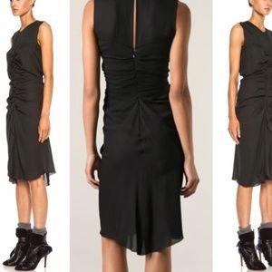 💙NWT Isabel Marant Humy silk ruched midi dress 2